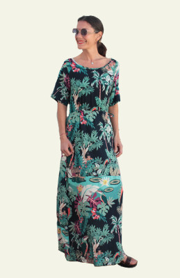 longue robe jungle